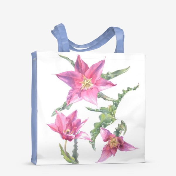 Сумка-шоппер «Сиреневые тюльпаны »