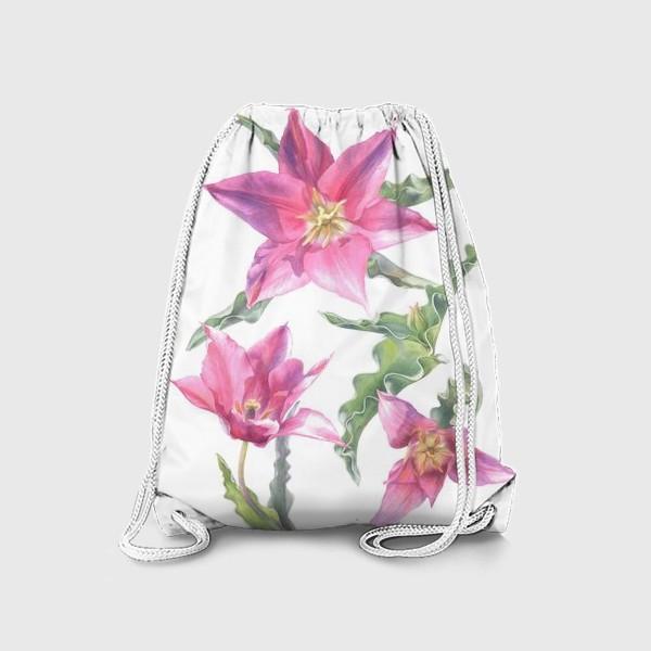 Рюкзак «Сиреневые тюльпаны »