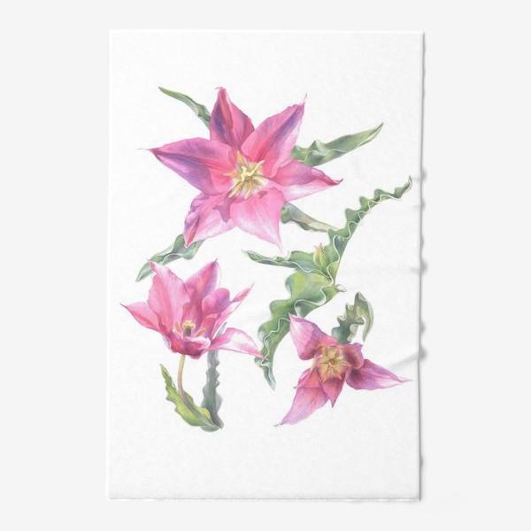 Полотенце «Сиреневые тюльпаны »