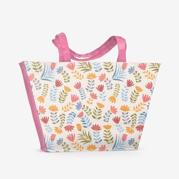 Пляжная сумка «Поле цветов»