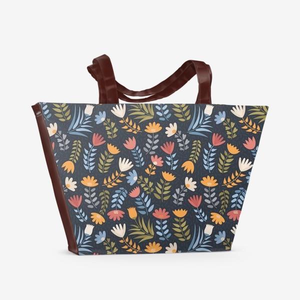 Пляжная сумка «Ночное поле»