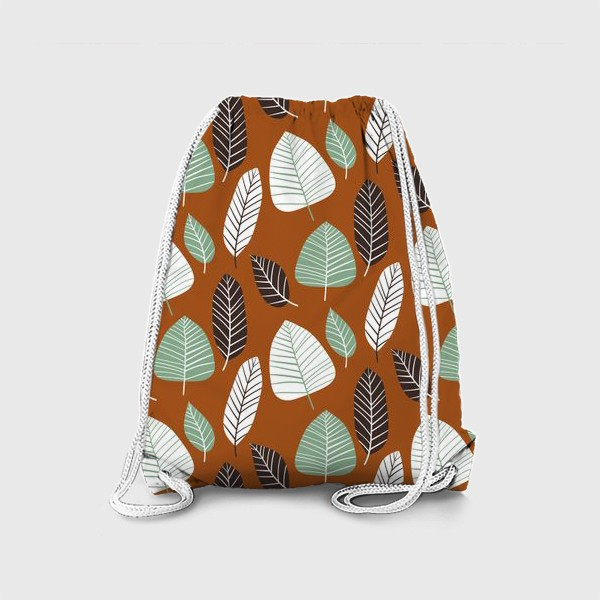 Рюкзак «Теплый природный узор с пестрыми листьями»