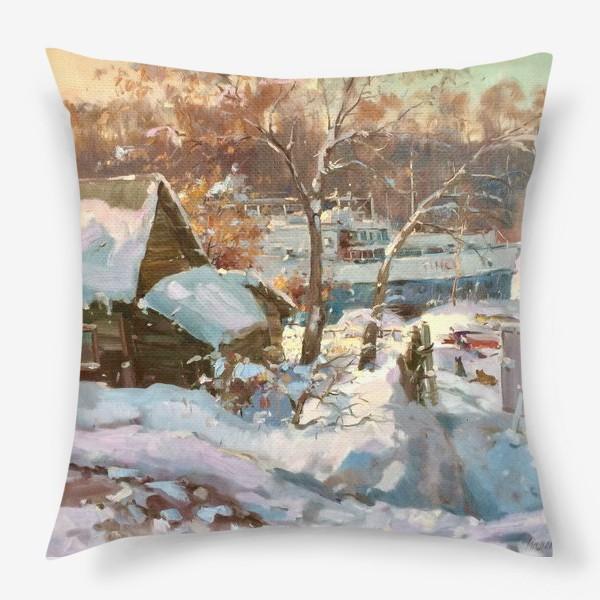 Подушка «Зима не отступает»