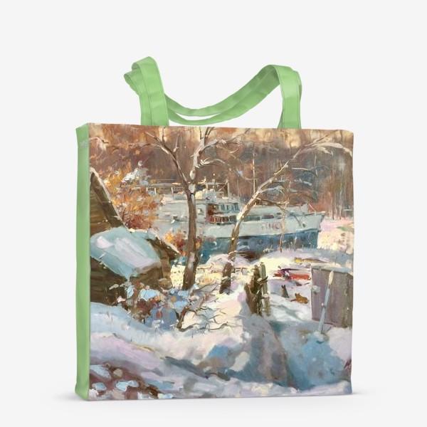 Сумка-шоппер «Зима не отступает»