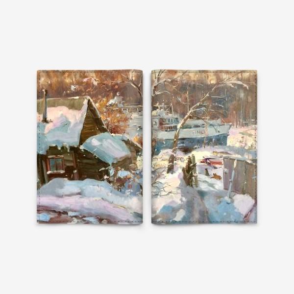 Обложка для паспорта «Зима не отступает»