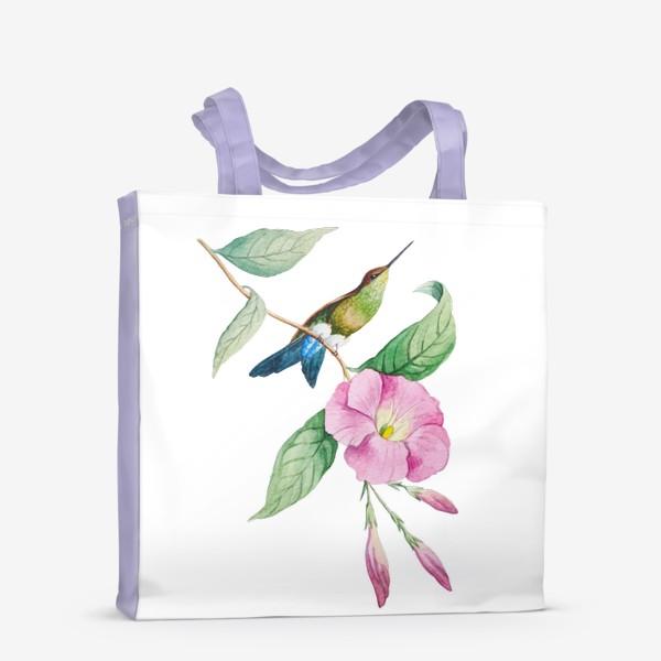 Сумка-шоппер «Колибри с синим хвостом»