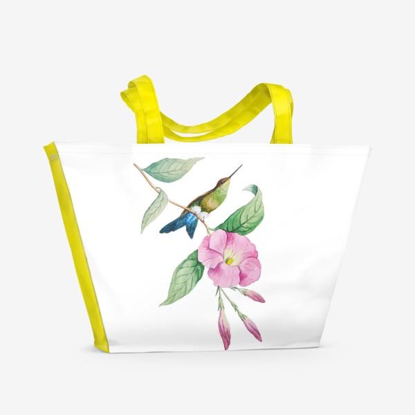 Пляжная сумка «Колибри с синим хвостом»