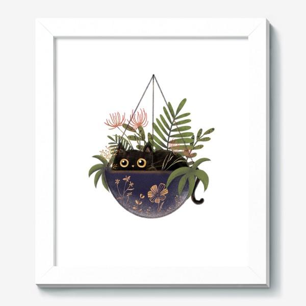 Картина «Кот в цветах »
