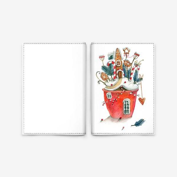 Обложка для паспорта «Рождественский горщочек»