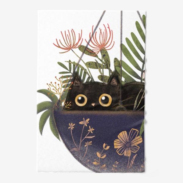Полотенце «Кот в цветах »