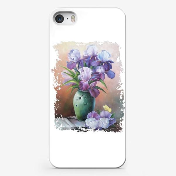 Чехол iPhone «арт, живописная картина маслом, букет весенних цветов»