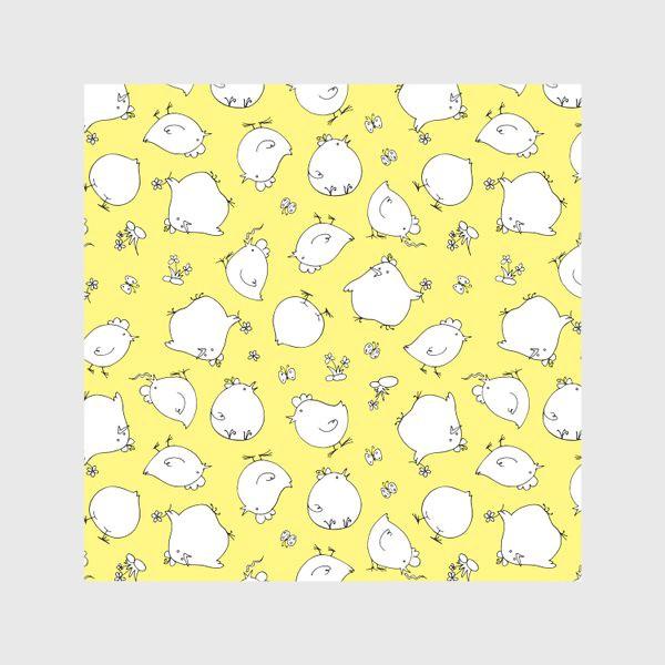 Скатерть «забавные цыплята, детский принт»