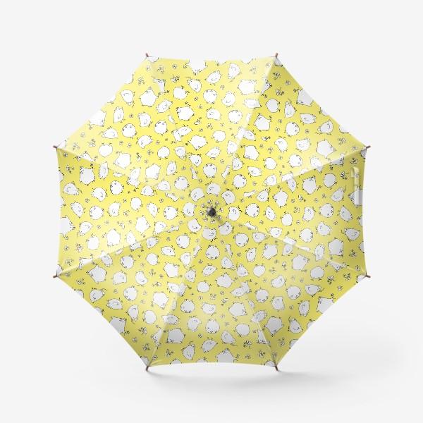 Зонт «забавные цыплята, детский принт»