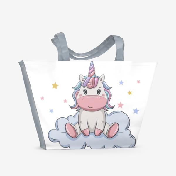 Пляжная сумка «Единорожка (Без фона)»
