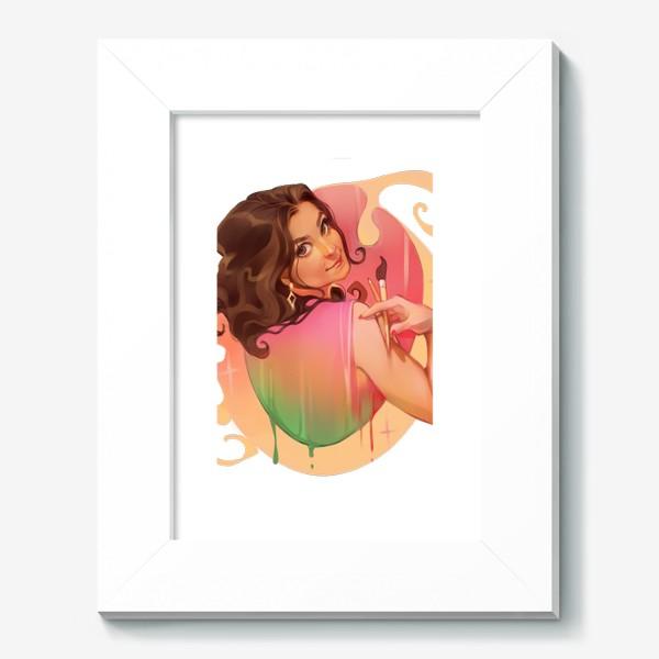 Картина «девушка художница палитра кисти краски волшебство и магия»