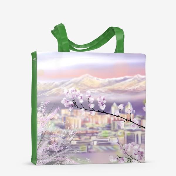 Сумка-шоппер «Цветущая Алма-Ата. Алматы. Весна.»