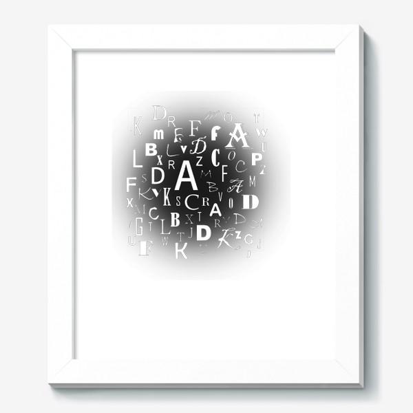 Картина «Алфавит в черном Цзен»