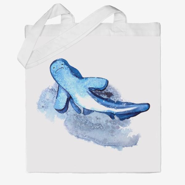 Сумка хб «Синяя акула»