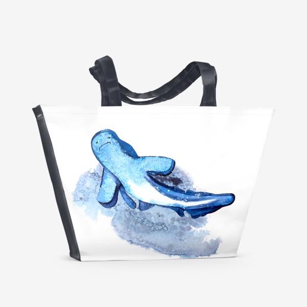 Пляжная сумка «Синяя акула»