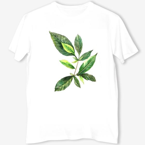 Футболка «Зеленый чай. Ботанический скетч. »