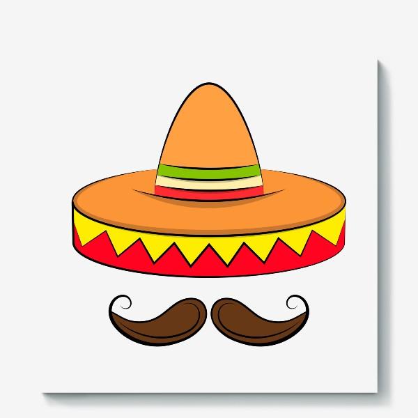 Холст «Mexican sombrero v2»