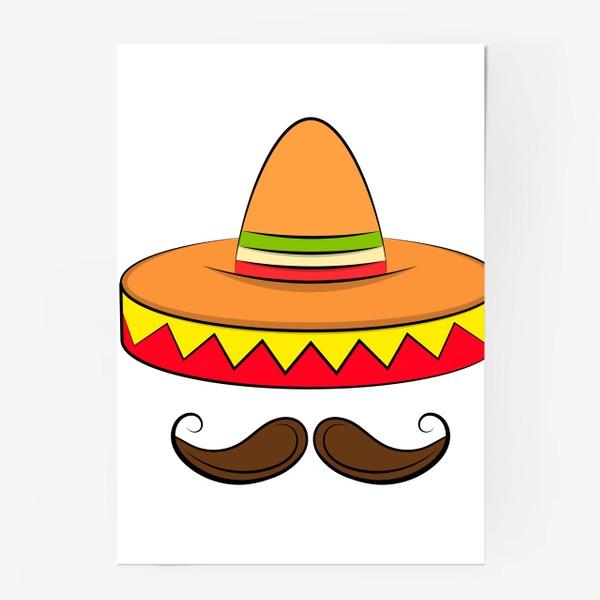 Постер «Mexican sombrero v2»