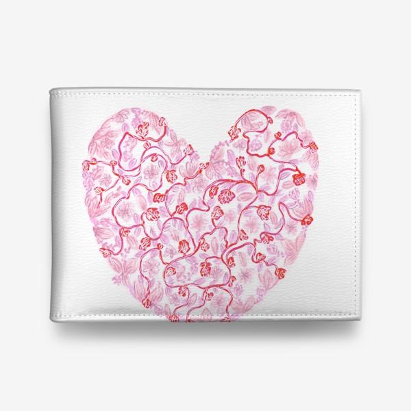 Кошелек «Любовь Розовое сердце с цветами»