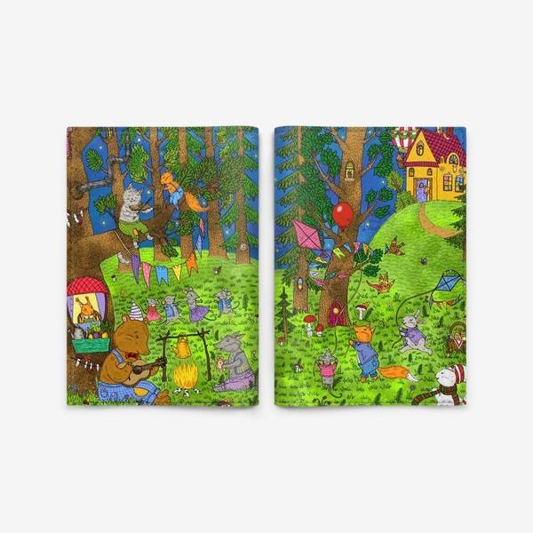 Обложка для паспорта «Лесные музыканты»