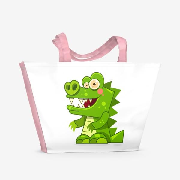 Пляжная сумка «crocodile»