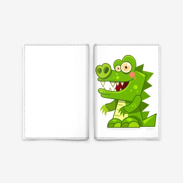 Обложка для паспорта «crocodile»