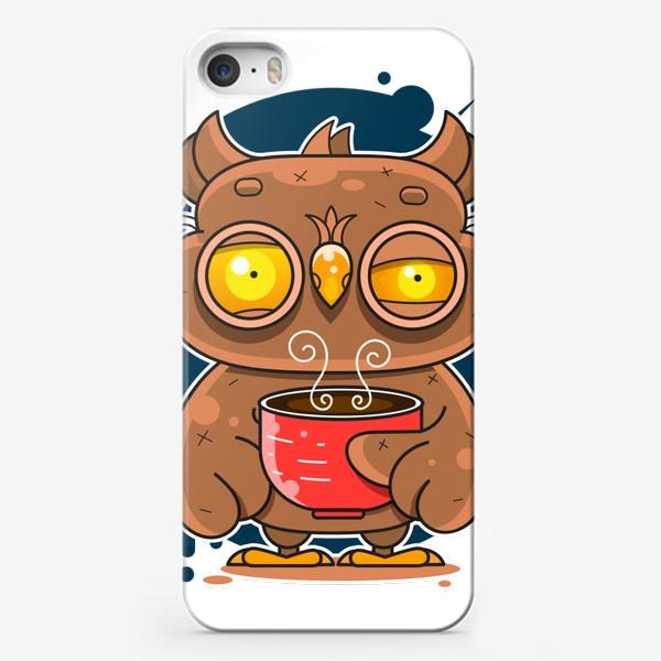 Чехол iPhone «Owl coffee art»