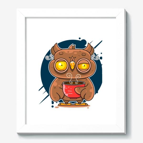 Картина «Owl coffee art»