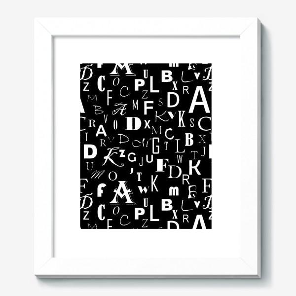 Картина «Буквы на черном»