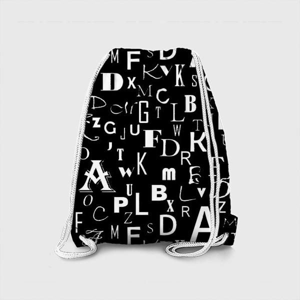 Рюкзак «Буквы на черном»