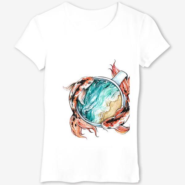 Футболка «Море в чашке»
