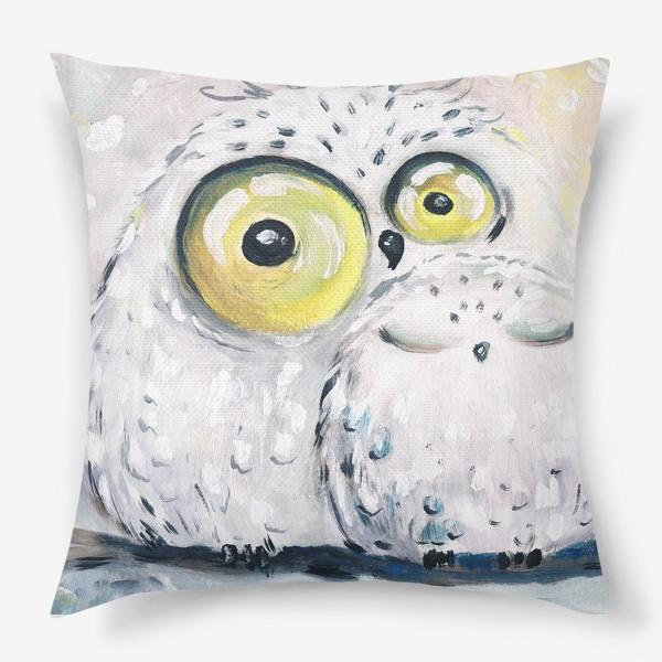 Подушка «Белые  совы »