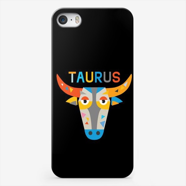 Чехол iPhone «Taurus. Знак зодиака Телец. Черный»