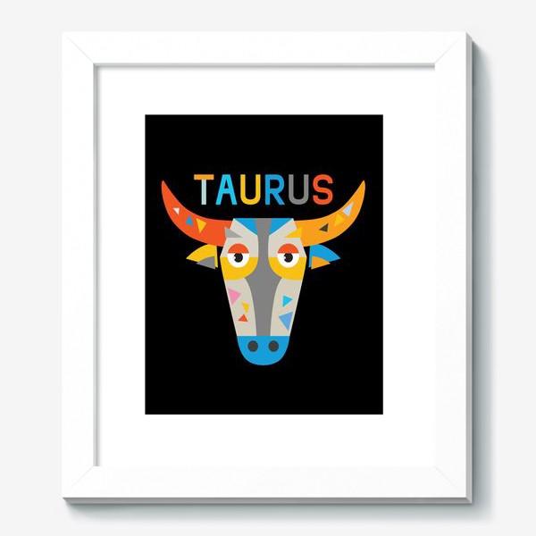 Картина «Taurus. Знак зодиака Телец. Черный»