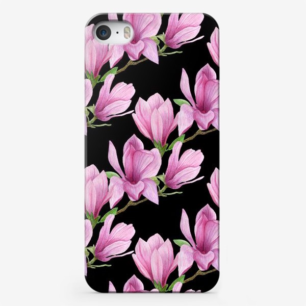 Чехол iPhone «цветущая магнолия на темном»