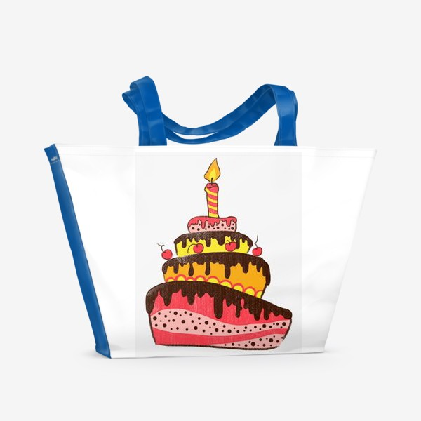 Пляжная сумка «Торт»