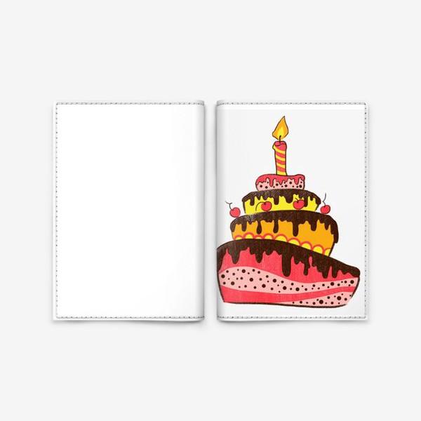 Обложка для паспорта «Торт»