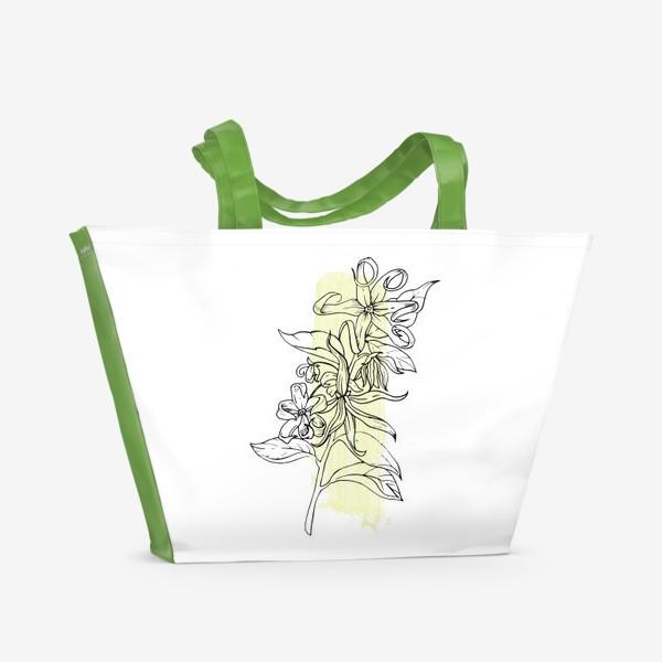 Пляжная сумка «Волшебный цветок»