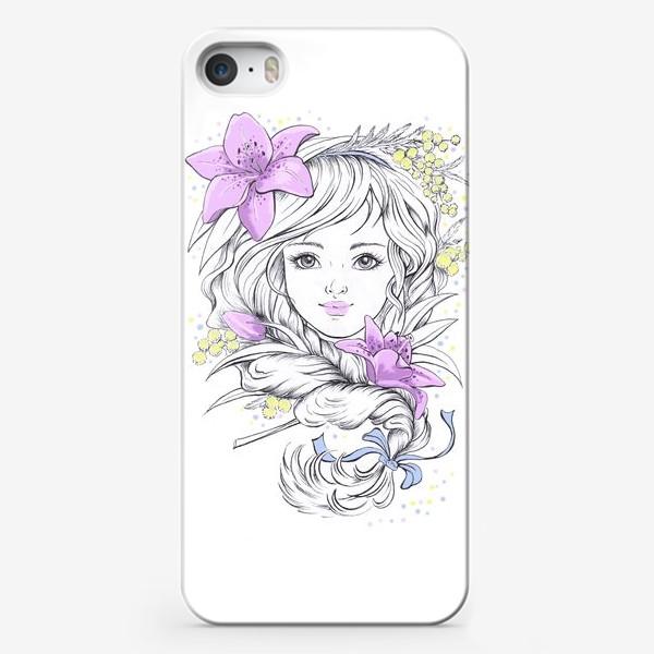 Чехол iPhone «Лилии. Графика»