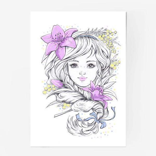 Постер «Лилии. Графика»