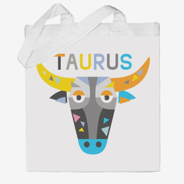 Сумка хб «Taurus. Знак зодиака Телец»