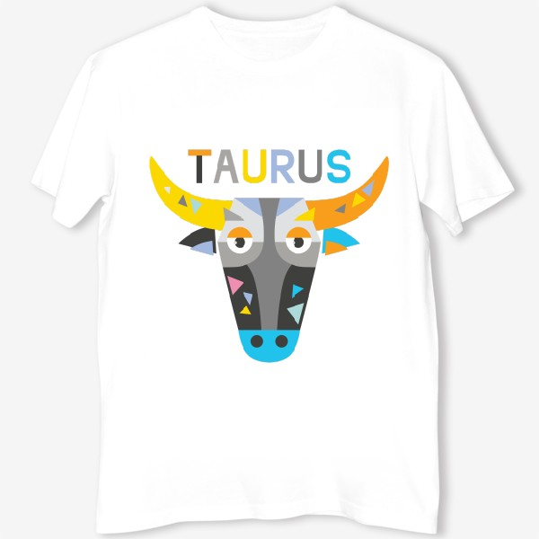 Футболка «Taurus. Знак зодиака Телец»