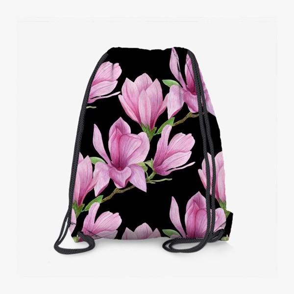 Рюкзак «цветущая магнолия на темном»