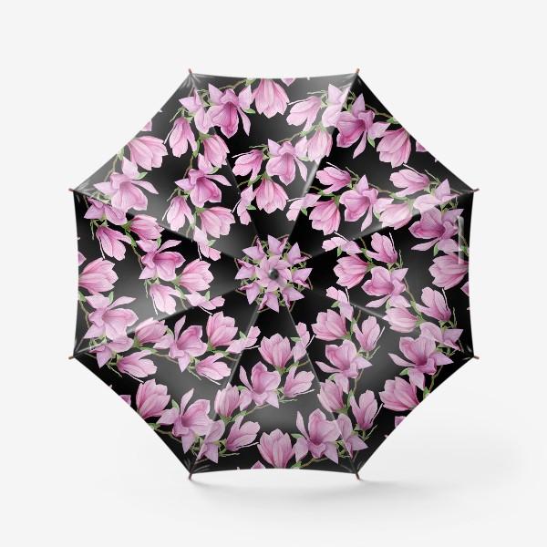 Зонт «цветущая магнолия на темном»