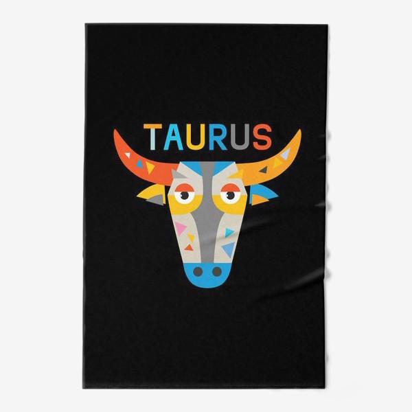 Полотенце «Taurus. Знак зодиака Телец. Черный»
