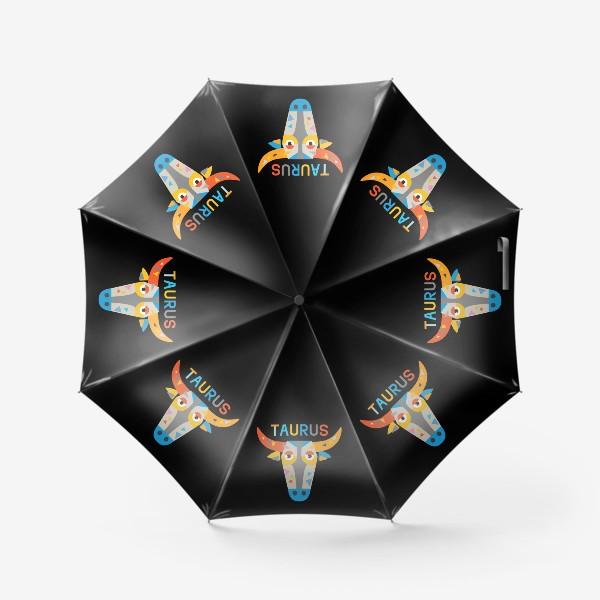 Зонт «Taurus. Знак зодиака Телец. Черный»